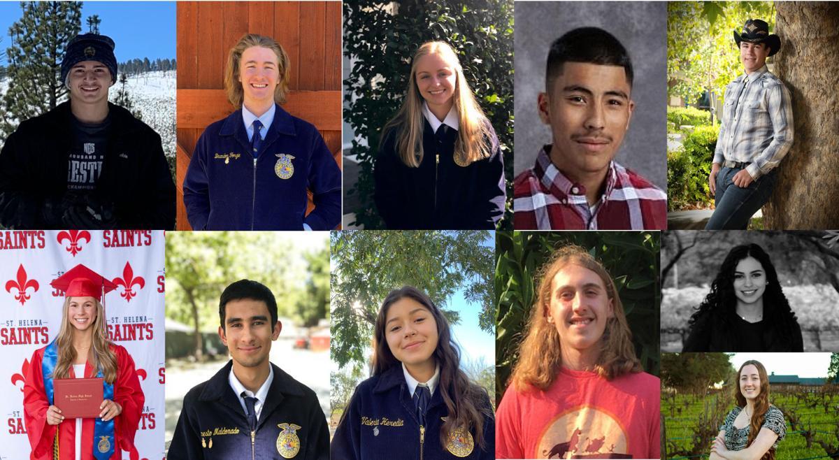The Napa County Farm Bureau Foundation scholarship recipients