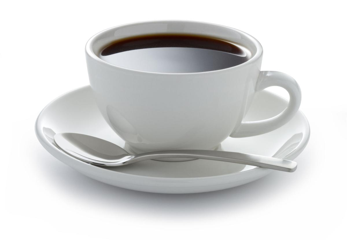 Coffee in your dinner plate