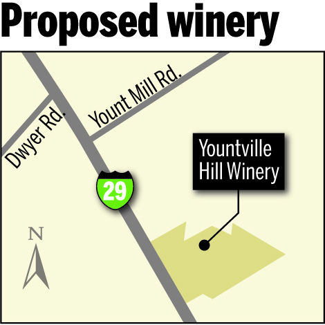 Proposed winery in Yountville