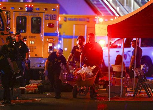 The Latest: California officer shot during Vegas concert