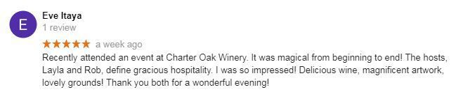 Review of Charter Oak Winery