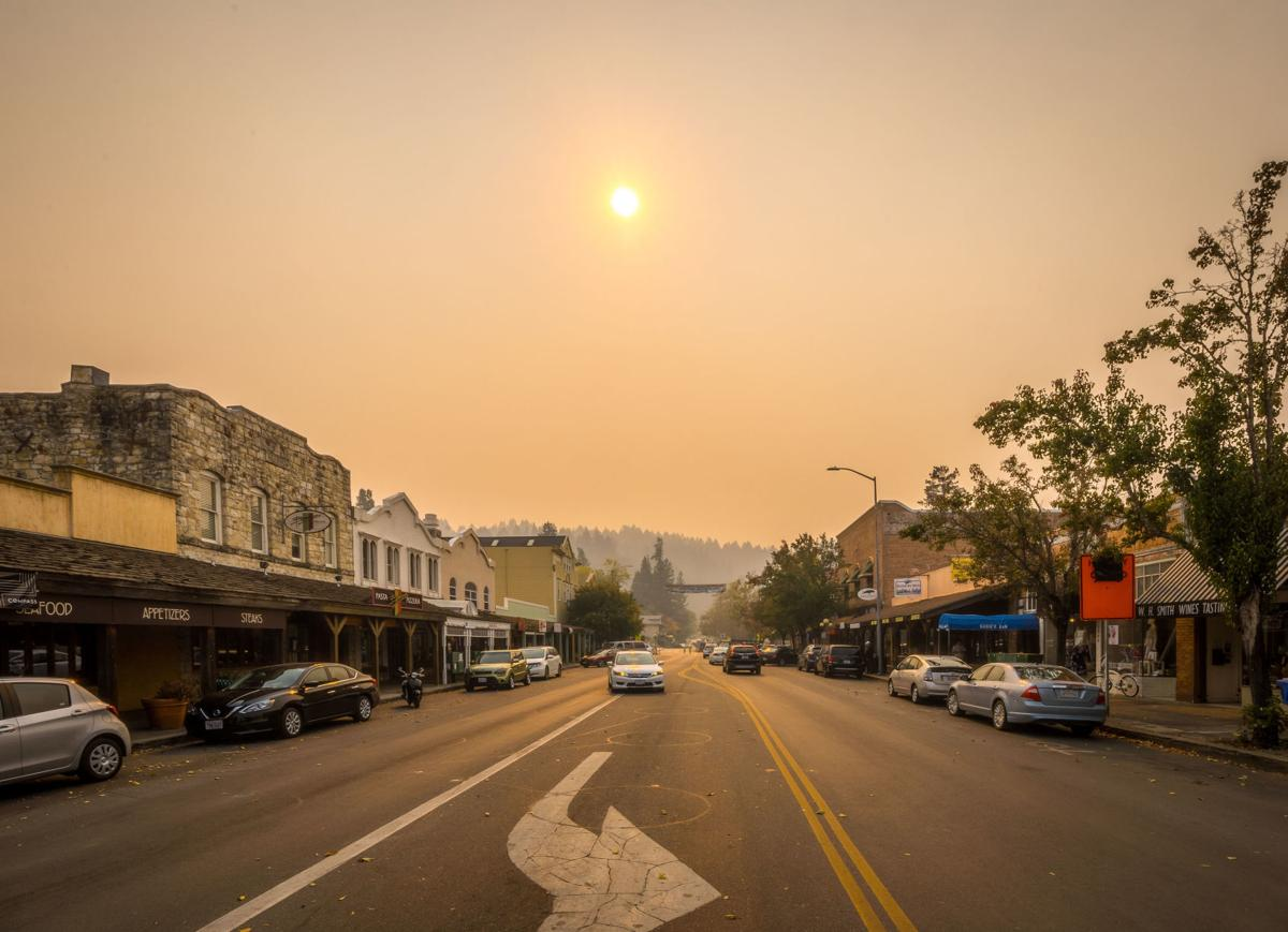 Smoke from wildfires seen in Calistoga in November 2018