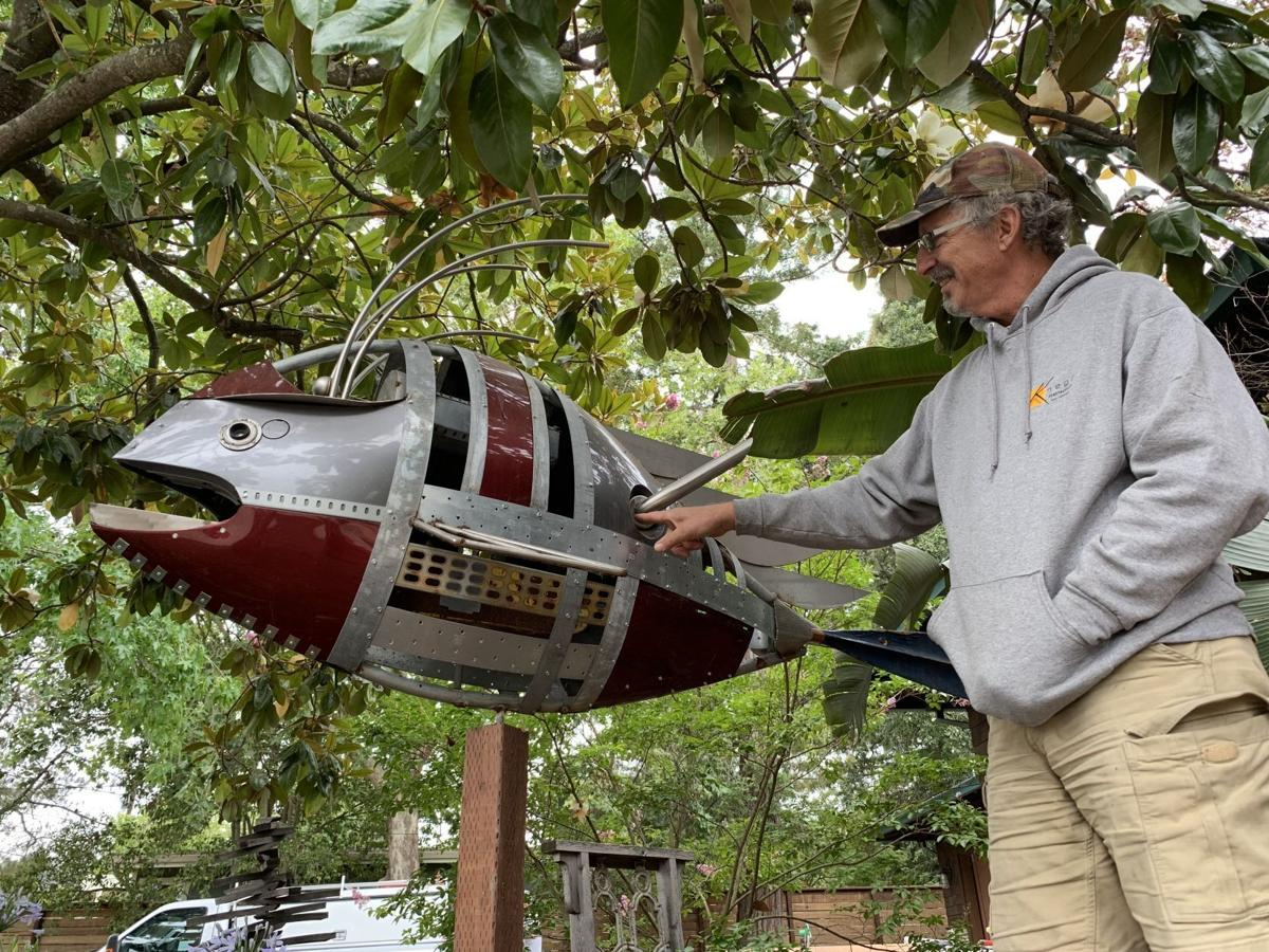 Dan Knego of Browns Valley makes art from recycled parts