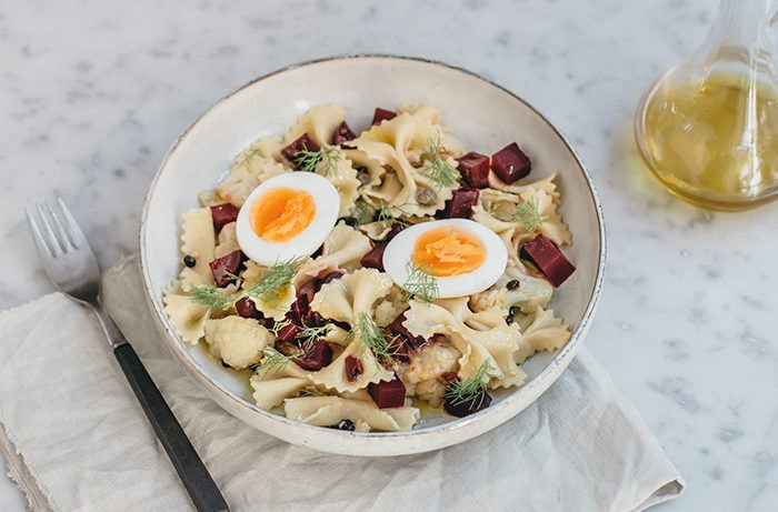 Farfalle Salad with Cauliflower and Beets