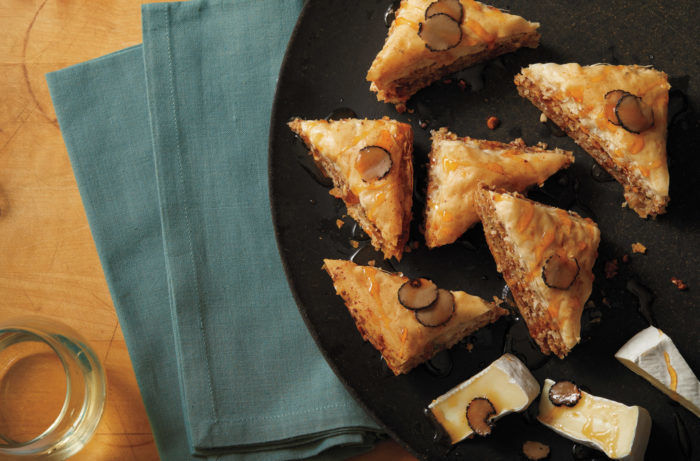 Hazelnut and Pineapple Baklava withBrie