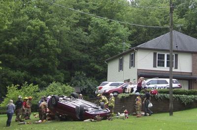 Woman hurt in rollover crash