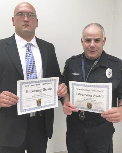 City police officers honored for lifesaving measures