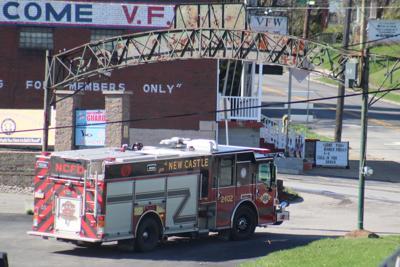 New Castle Fire Department truck at Cascade Park