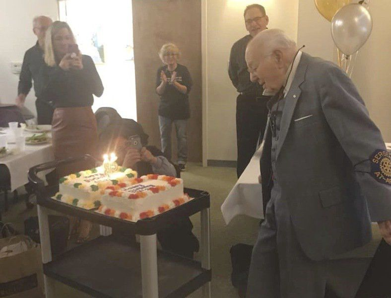 Rotary Honors Member On His 95th Birthday