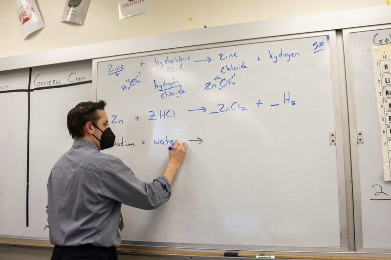 On the track or in the chemistry lab, Vecenie helps shape students