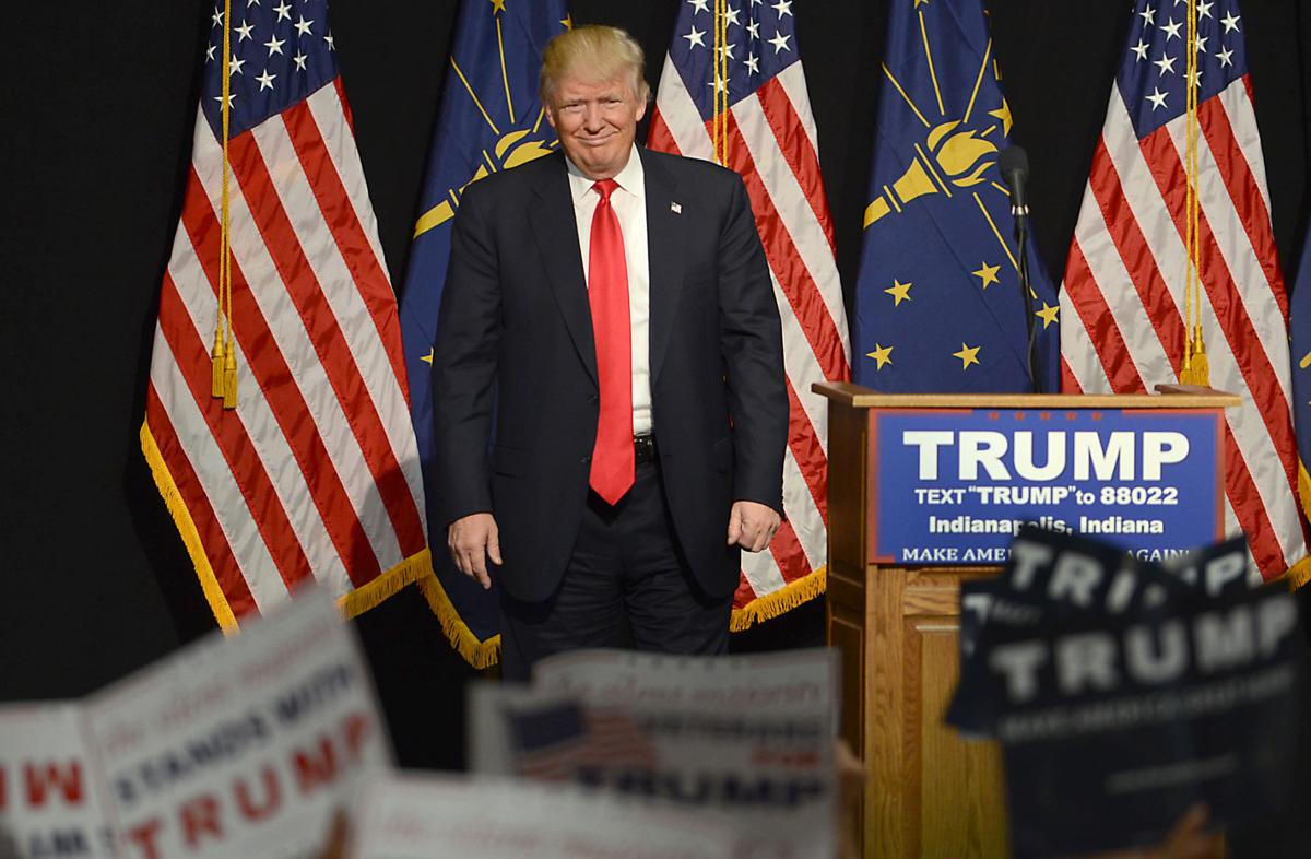 Donald Trump campaigns in Indy