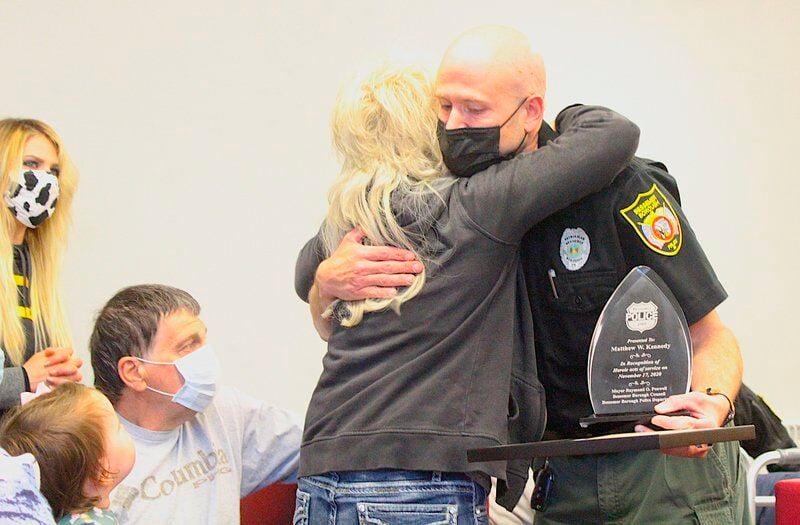 Bessemer officer honored for live-saving heroics