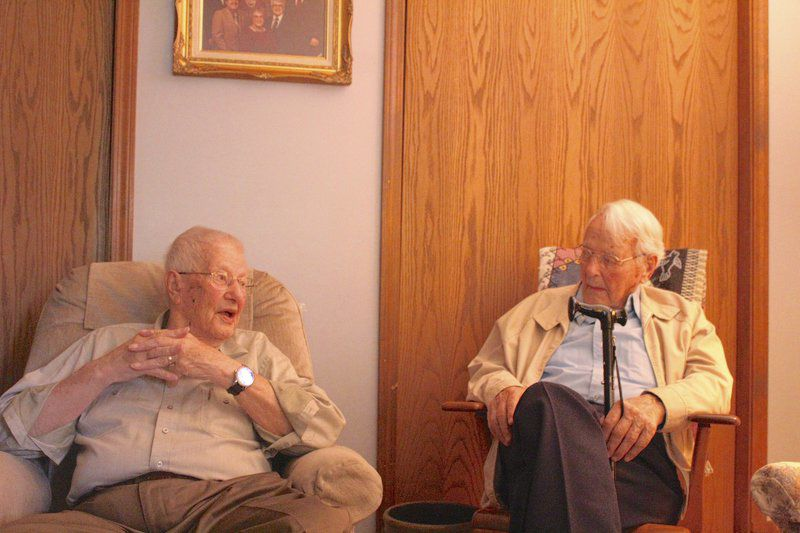 War effort 2 local men served in World War II, never fired a shot