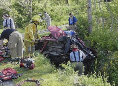 Two injured in New Beaver Borough crash