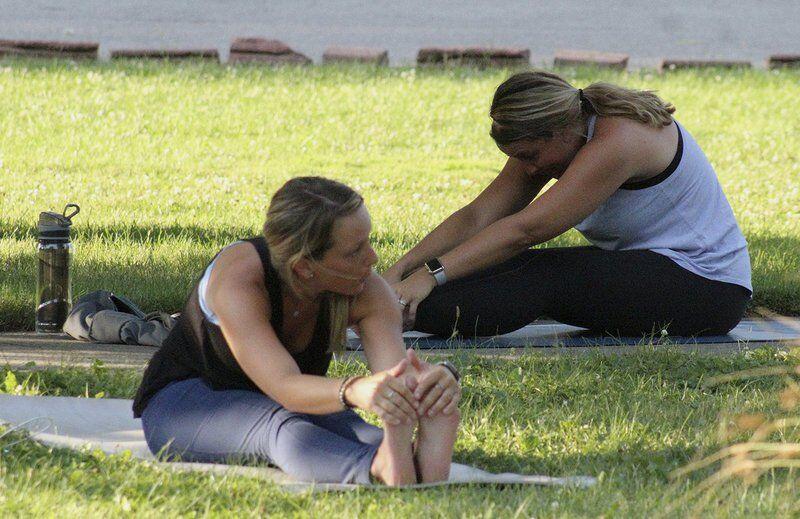Yoga classes go outdoors at Cascade