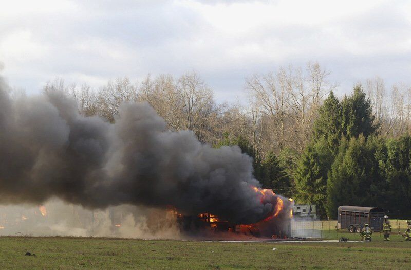 Barn fire claims small animals; sheep and horses rescued