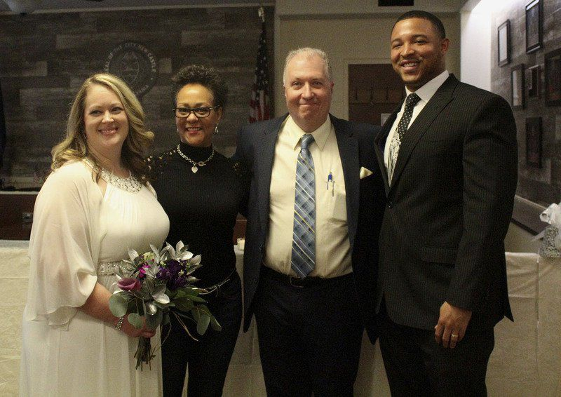 'A beautiful time' Mayor weds couple at city hall ceremony