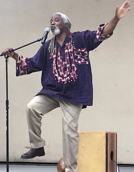 Storyteller challenges listens to follow his lead