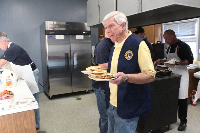 Lions Club serves up pancakes at fundraiser breakfast