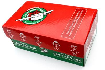 Operation Christmas Child Boxes.Light Up Night Church Members To Accept Donations For