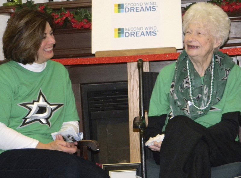 Organization helps woman fulfill dream of seeing grandson play in the NHL