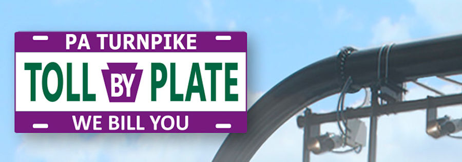Pennsylvania turnpike tolls by plate