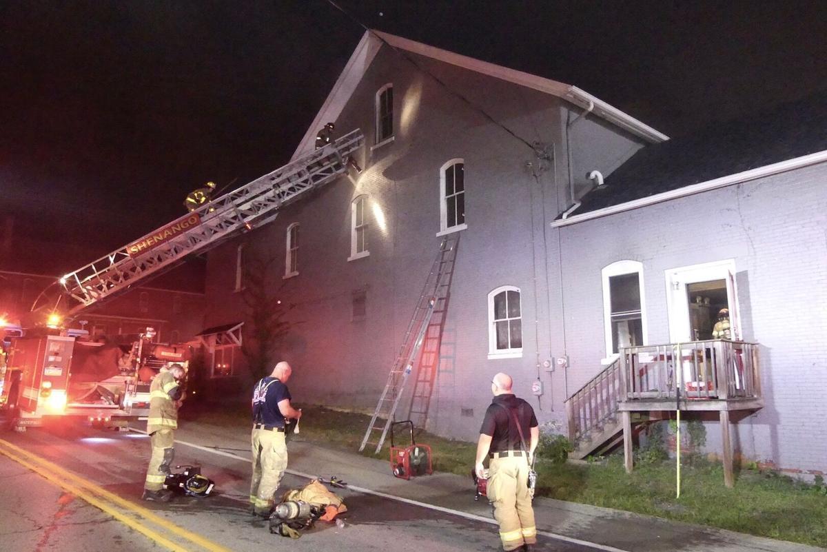 Firefighters respond to blaze at Harlansburg landmark