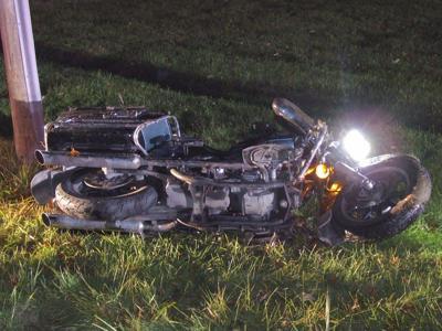 Motorcyclist dies following crash