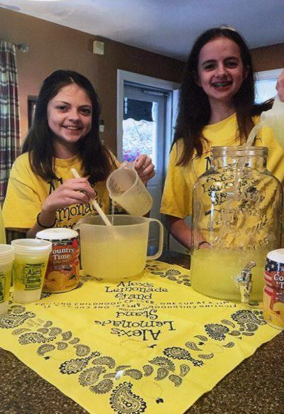 Sisters' lemonade stand to fight childhood cancer