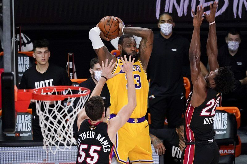 Lakers top Heat to take 3-1 lead in NBA Finals