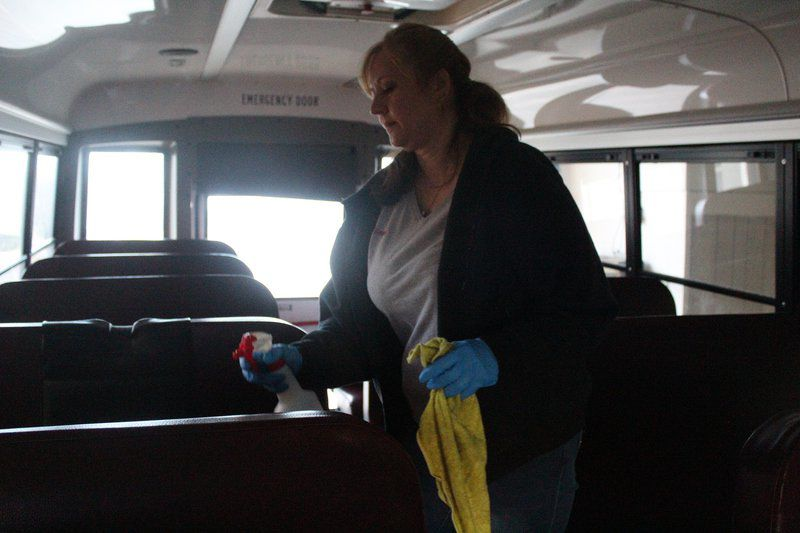 Neshannock uses off day to deep clean buses, school
