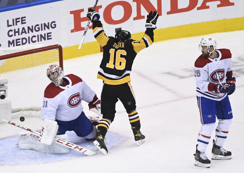 Crosby leads Penguins past Canadiens 3-1; Series tied 1-1