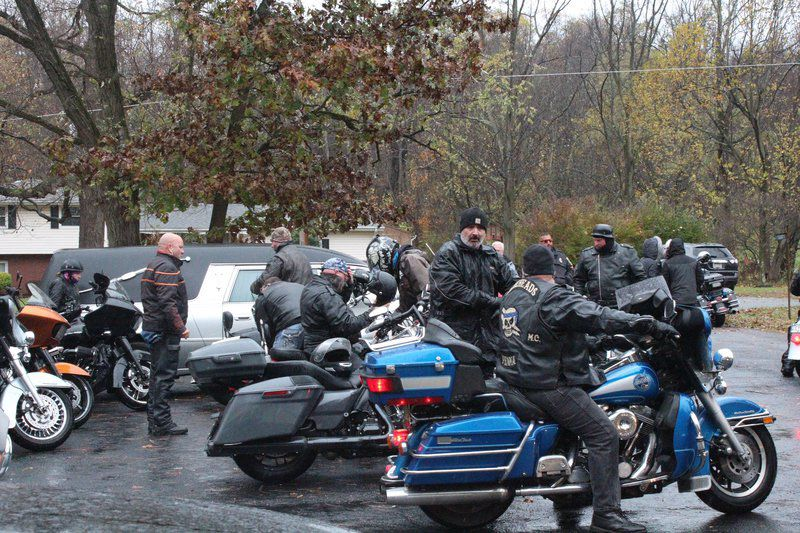 Motorcyclists pay tribute to fellow biker