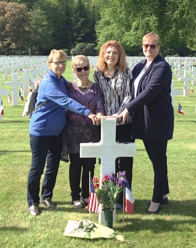 Sisters pay homage to uncle's WWII grave