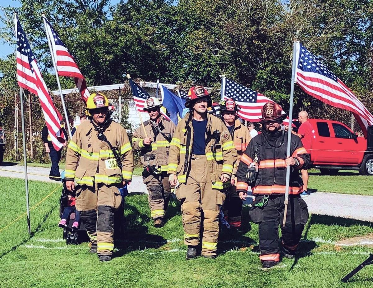 Firefighters walk 2