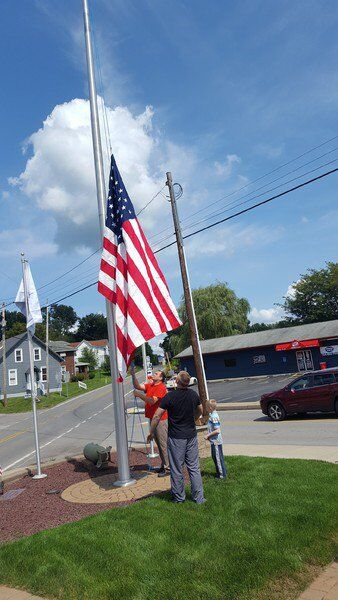 New flags fly over Honor Roll