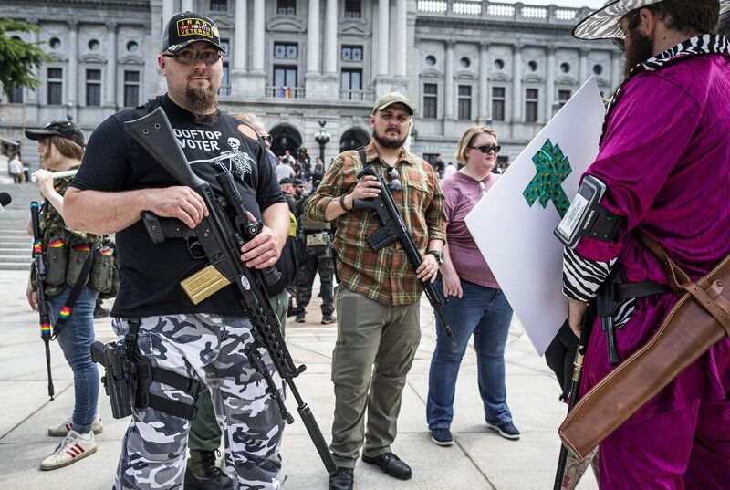 Gun rights supporters rally outside Pennsylvania Capitol