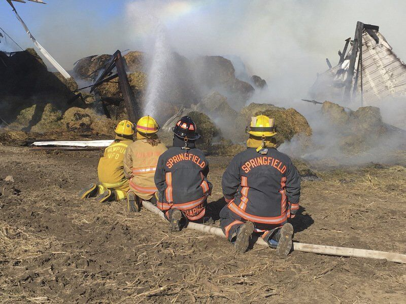 Fire breaks out in North Beaver barn