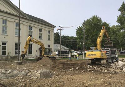 Courtyard demolition under way at courthouse
