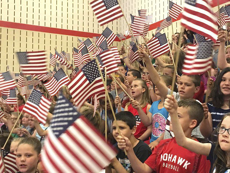 Mohawk students told: Be proud to be an American