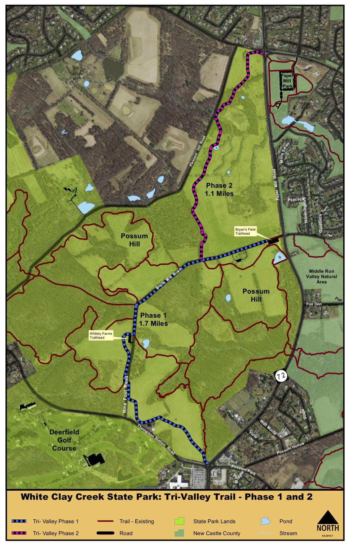 Tri-Valley Trail map