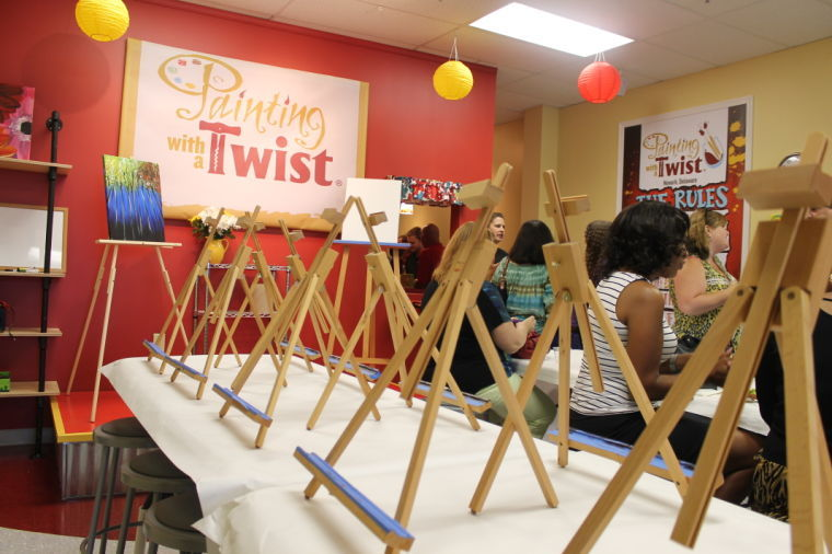 39 paint and sip 39 franchise opens in suburban plaza news for Painting with a twist chicago