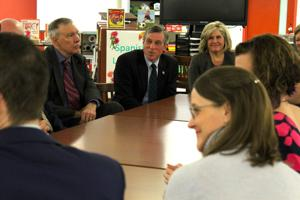 Teachers ask for trust, respect during meeting with Carney