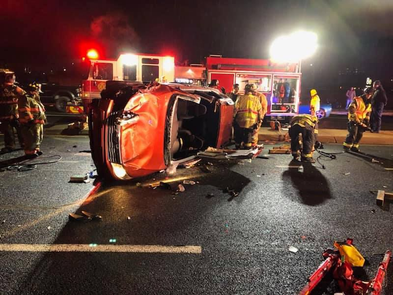Two injured in rollover crash on Christina Parkway | Newark Post