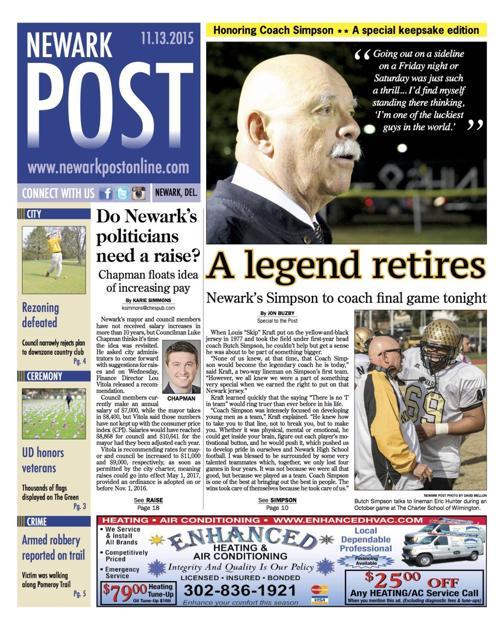 Newark Post Publishes Keepsake Edition Honoring Coach