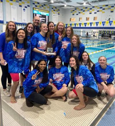 Newark Charter girls swim team