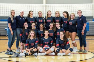 Newark Charter volleyball