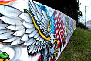 New painting replaces destroyed mural on Capitol Trail