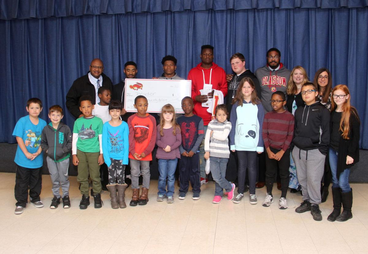 Glasgow football players promote literacy at brader - Riverview gardens school district jobs ...