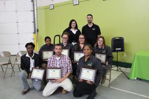 Food bank honors graduates of inaugural warehousing course